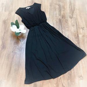 Loft black dress with pockets